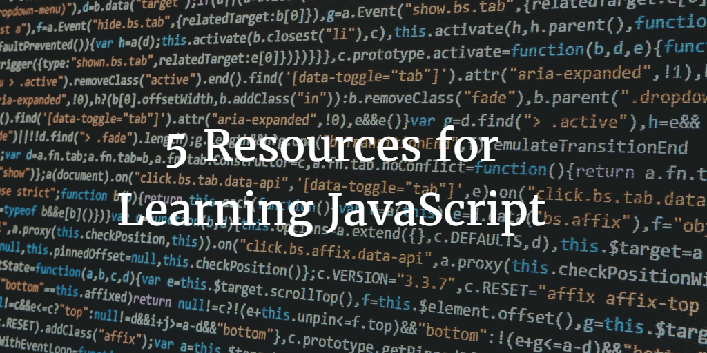 5 Resources for Learning JavaScript