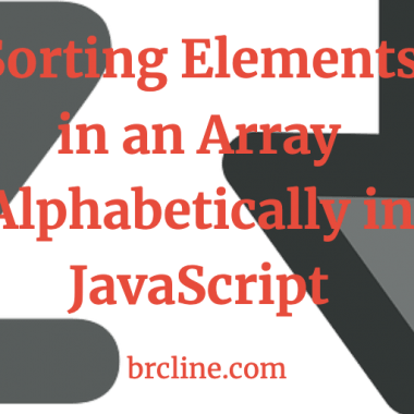 Sorting Elements in an Array Alphabetically in JavaScript