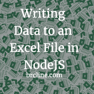 How to Write Data to An Excel file in NodeJS